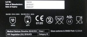 ČIERNE NITRILOVÉ RUKAVICE 100ks – extra silné XL Pomôcky / Príslušenstvo [tag]